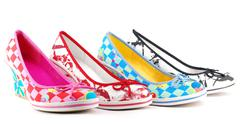 lady cororful shoes.JPG - stock photo