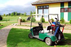 golf cart car.JPG - stock photo