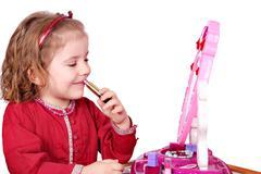 little girl make up.JPG - stock photo