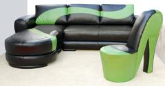 Modern leather furniture.JPG Stock Photos