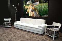 modern white furniture.JPG - stock photo