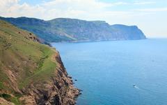summer coast view - stock photo
