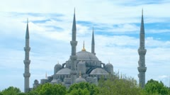 Sultanahmet Mosque time-lapse video. Istanbul, Turkey. Stock Footage