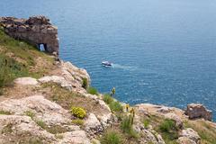 sammer coast view - stock photo