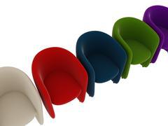 chairs - stock illustration