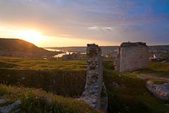 Stock Photo of crimean ancient fortress sunset view (ukraine)