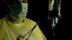 Surgeon Removes Bullet Stock Footage