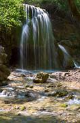 "waterfall ""sribni struji"" - stock photo"