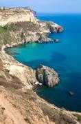 rocky coast view - stock photo