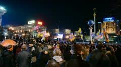 Orange Revolution celebration anniversary in Kiev, Ukraine. Stock Footage