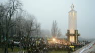 Holodomor (starvation, 79th anniversary) marks in Kiev, Ukraine in 2012. Stock Footage
