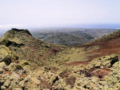 Volcan de la corona, lanzarote, canary islands, spain Stock Photos