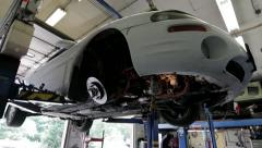 Car with work being done on it Stock Footage