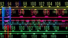 glowing radio dial - stock footage