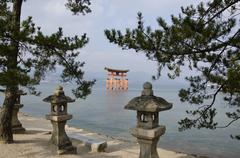 itsukushima shrine - stock photo