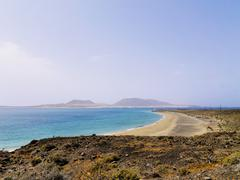 graciosa island, lanzarote, canary islands, spain - stock photo