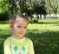 Little girl outdoor portrait.JPG Stock Photos