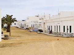 Caleta del sebo, graciosa island, canary islands, spain Stock Photos