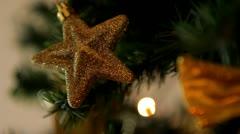 Christmas tree lights twinkling loop - stock footage