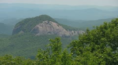 Looking Glass Rock from the Blue Ridge Parkway Stock Footage