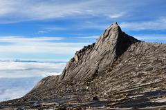 south peak, mount kinabalu - stock photo