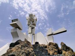 monumento al campesino, lanzarote, canary islands, spain - stock photo