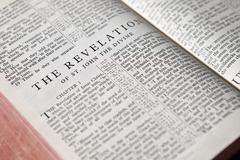 Revelation text background Stock Photos