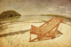 Sun beach chair Stock Photos