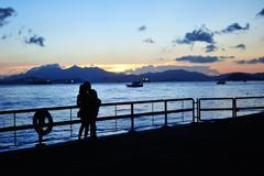Stock Photo of romantic sunset