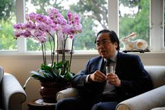 Stock Photo of hong kong, china - april 2011: prof. lap-chee tsui, the vice-chancellor and p