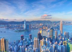 victoria harbour - stock photo
