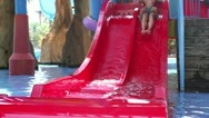 Stock Video Footage of In aqua park