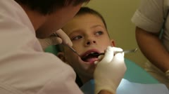 The visit to the dentist - stock footage