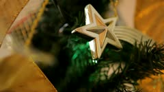 Christmas tree lights twinkling loop - stock footage