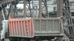 Steel works. Cast iron loading. Stock Footage