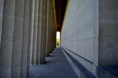 Stock Photo of Columns and Wall