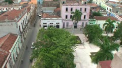 Camagüey, Overview, Ignacio Agramonte park Stock Footage