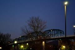 Stock Photo of Night Bridge