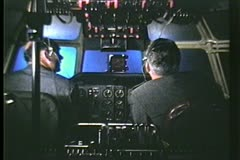 The cockpit of a Trans World Airlines Constellation, 1950 - stock footage