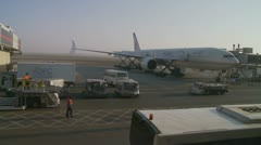 Busy Abu Dhabi airport Stock Footage