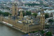 Stock Photo of houses of parliament and london city detail