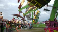 Flying Ride at County Fair Stock Footage