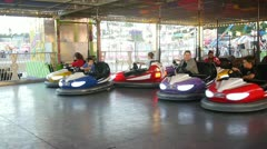 Bumper Cars action at Volusia County Fair Stock Footage