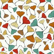 Stock Illustration of vintage ginko biloba leaf pattern