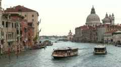Boats in water of Venice Canals Stock Footage