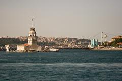 Maiden's tower of istanbul, turkey Stock Photos