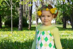 child spring scene.JPG - stock photo