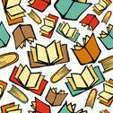 Back to school books pattern Stock Illustration