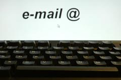 E mail conception - stock photo