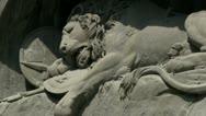 Lion of Lucerne telephoto shot Stock Footage